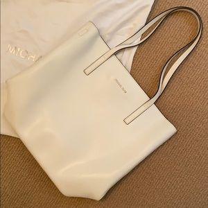Michael Kors white tote bag removable strap new